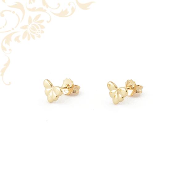 Legyező formájú arany fülbevaló, stekkeres záródással
