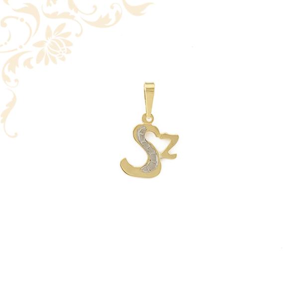Sz betűt mintázó arany lapmedál