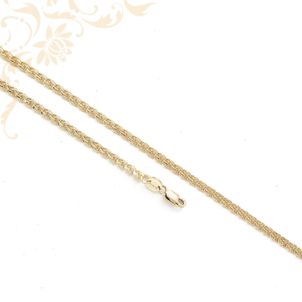 Nagyon mutatós és kényelmes viseletű, duplaszemes arany nyaklánc