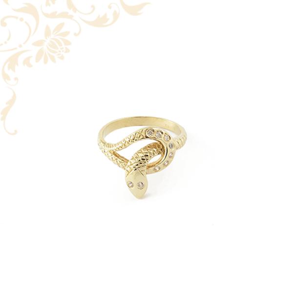 Cirkónia köves női kígyó gyűrű