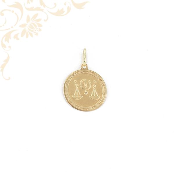 Mérleg horoszkópos arany medál
